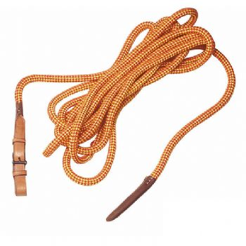6 metre soft rope with leather billet